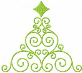 Modern Christmas tree free embroidery design