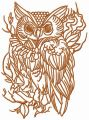 Wizard's owl with necklace embroidery design