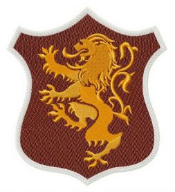Lannister shield machine embroidery design