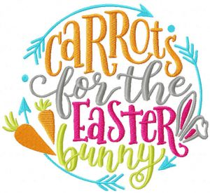 Carrots for Easter bunny decor