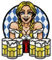 Beer girl 5 embroidery design