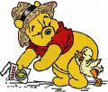 Winnie Pooh and little duck