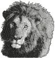 Lion free machine embroidery design