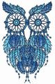 Owl dreamcatcher embroidery design