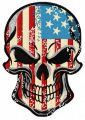 American skull embroidery design
