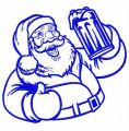 Santa with beer 3 embroidery design