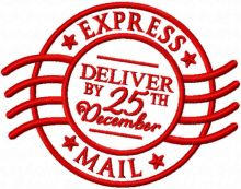 Express mail deliver by 25th december