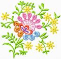 Decorative Flower free machine embroidery design