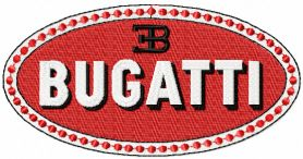 Bugatti oval logo machine embroidery design