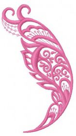 Feather 18 machine embroidery design