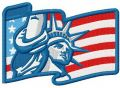 American Liberty 2 embroidery design