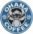Ohana coffee embroidery design