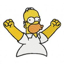Homer Simpson Happy