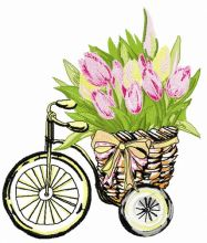 Basket with tulips 2