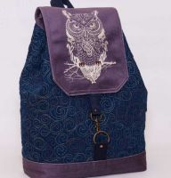 Loving backpack with Tribal embroidery design