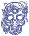 Skull of aristocrat embroidery design