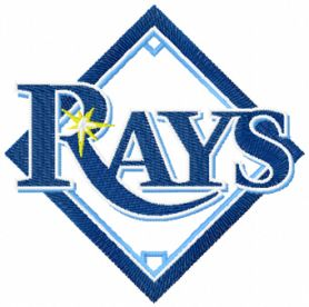 Tampa Bay Rays logo machine embroidery design