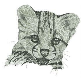 Young cheetah portrait machine embroidery design
