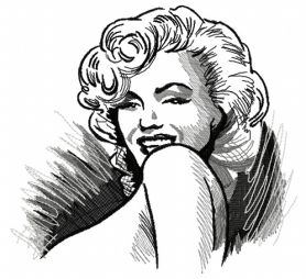 Coquette Marilyn machine embroidery design