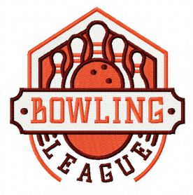 Bowling league 4 machine embroidery design