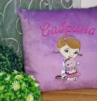 Doc McStuffins and Lambie design on pillowcase1