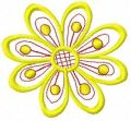 Yellow flower free embroidery design