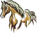 Horse mascot 2 embroidery design