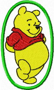 Winnie Pooh in oval frame
