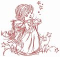 Star angel 2 embroidery design