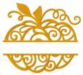 Pumpkin monogram embroidery design