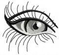 Eye free embroidery design 5