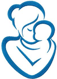 Mother and baby free embroidery design