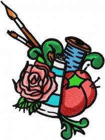 Sewing art embroidery design