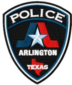 Arlington Texas police logo machine embroidery design