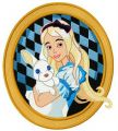 Alice with bunny 2 embroidery design