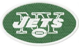 New York Jets logo machine embroidery design