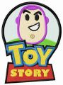 Toy Story badge embroidery design