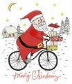 Santa cycling 2 embroidery design
