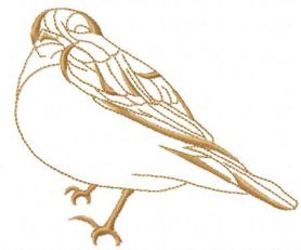 Sparrow free embroidery design