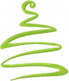 Christmas modern tree free embroidery design 4
