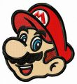 Mario face embroidery design