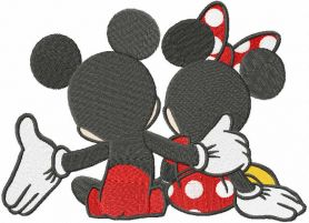Mickey all for you embroidery design