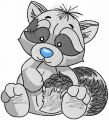 Raccoon 2 embroidery design