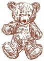 Old bear toy 9 embroidery design