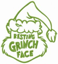 Resting Grinch face funny hat