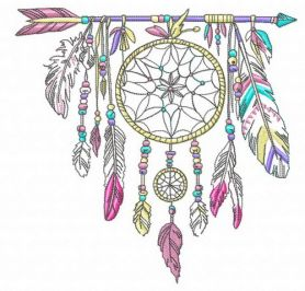 Dreamcatcher 3 machine embroidery design