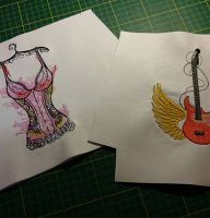 Different designs embroidered2