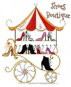 Shoes boutique machine embroidery design