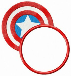 Captain America's shield round badge