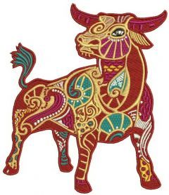 Taurus machine embroidery design